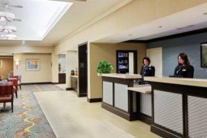 Homewood Suites Orlando desk